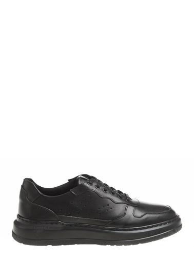 Fabrika Fabrika Deri Erkek Sneaker Siyah